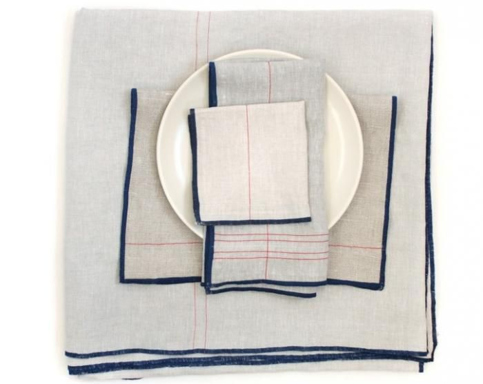 Striped Table Linens from Commune: Remodelista