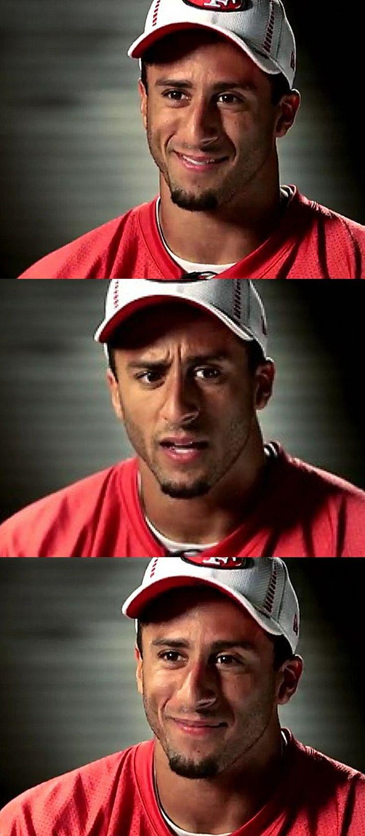 Colin Kaepernick 49ers. Oh how much I adore you!!! You're such a cutie, a cute dork;)!