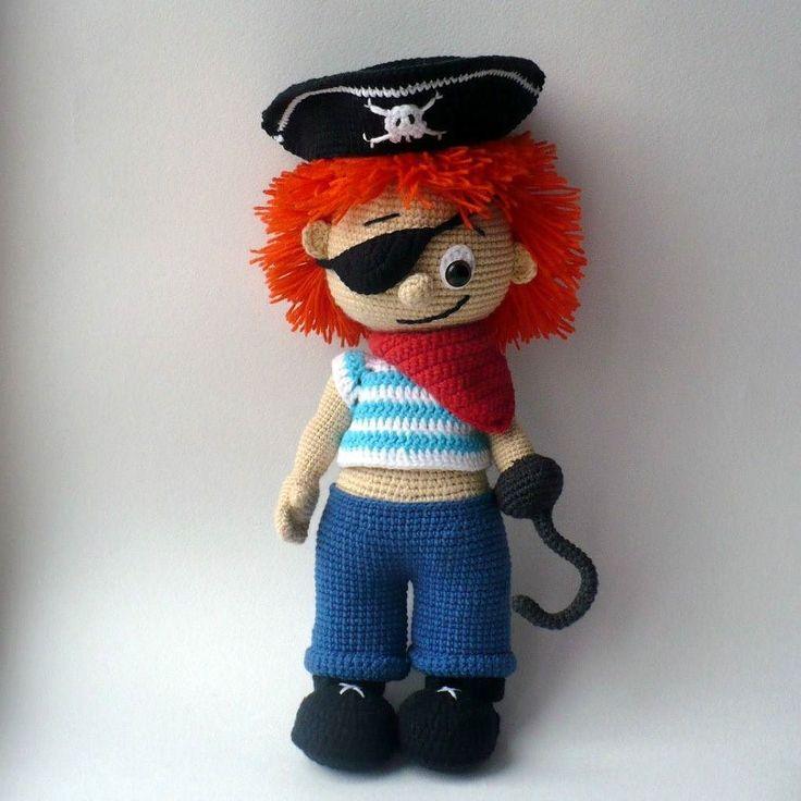 snowfairy_crochet Пират. Сделан на заказ. Рост 30 см. Одежда снимается. В комплекте ещё попугай и борода   #snowfairy_crochet #amigurumi #crochet #crocheting #crochetlove #toy #toys #crochettoy #crochettoys #амигуруми #крючком #вязаныеигрушки #игрушкикрючком #вяжутнетолькобабушки #назаказ #вязание #weamiguru #длядетей #подарок #игрушки #ilovecrochet #instacrochet #вяжу #i_lovecrochet  #crochetdoll #amigurumidoll #doll #handmadedoll #pirate #пират