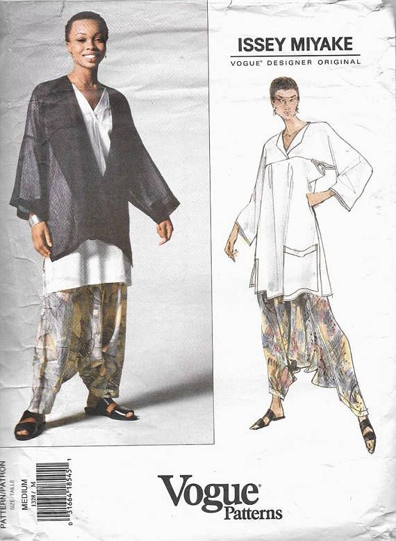 ISSEY MiYAKE JACKET Tunic Top Pants Pattern Designer Vogue 1328 MC ...