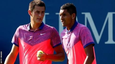 Nick Kyrgios and Bernard Tomic in row over Davis Cup 'faking'