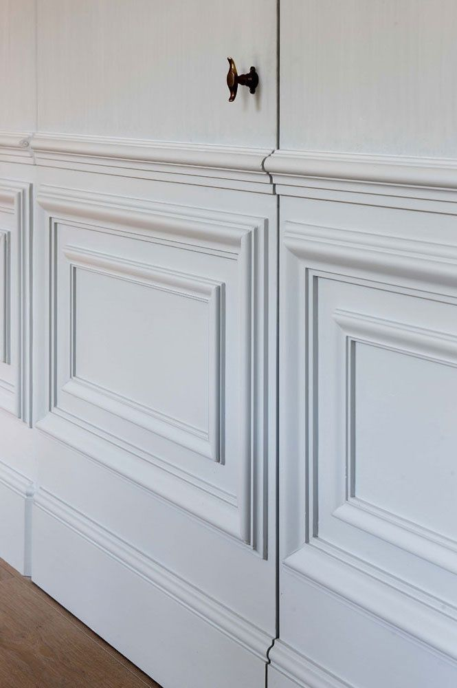 Secret door in panelling