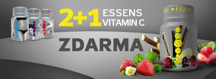 ESSENS VITAMIN C ZDARMA! při koupi 2 ks libovolných produktů z řady ESSENS Home Pharmacy získáte ESSENS Vitamin C ZDARMA! více: http://www.essens-czech.cz/essens-produkty/essens-vitamin-c/