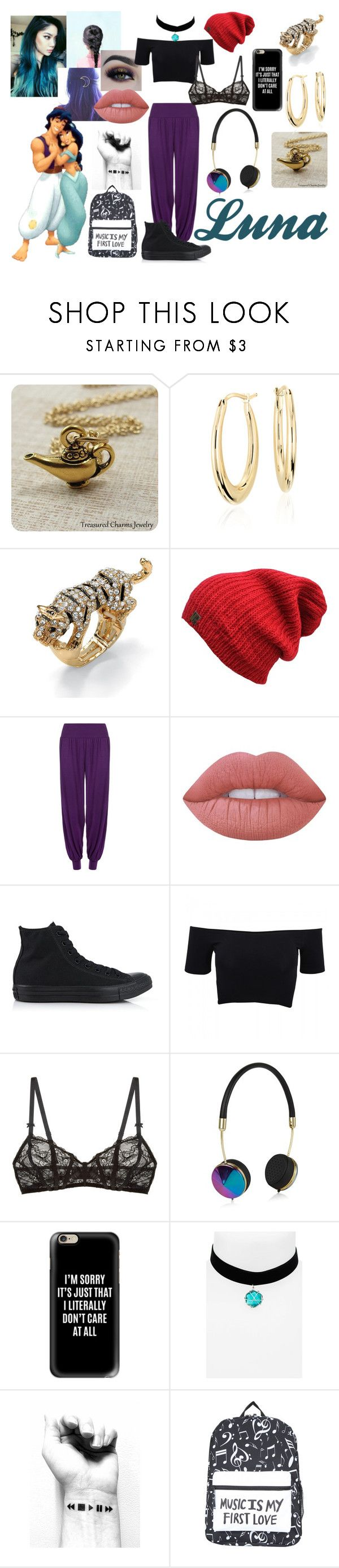 """""""Luna (Aladdin & Jasmine Daughter)"""" by sleepyfangirl ❤ liked on Polyvore featuring Manic Panic NYC, Blue Nile, Palm Beach Jewelry, BHCosmetics, WearAll, Lime Crime, Converse, American Apparel, Free People and Frends"""