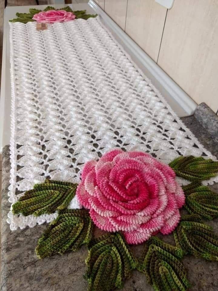 Melhores 12 TABLE PATH – SkillOfKing.Com   – Florecitas & Aplicaciones  a Crochet