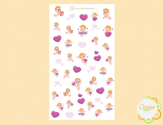 Cupid Stickers Cupid Planner Stickers Valentine's Day