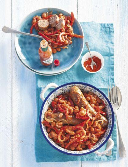 Recept voor pittige chili met braadworst