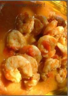 Curry de crevettes léger ... mais crémeux
