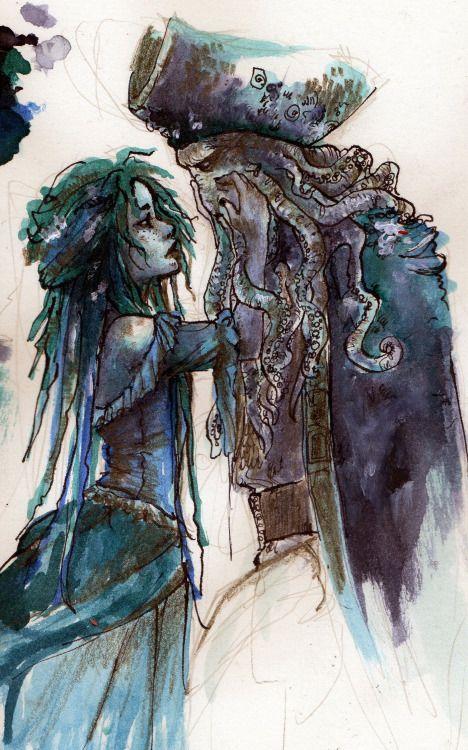 Davy Jones and Calypso (image not mine)