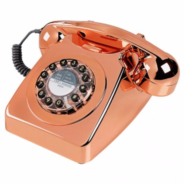 England At Home Series 746 Telephone – Copper (280 BRL) ❤ liked on Polyvore featuring home, home decor, copper home accessories, british home decor and copper home decor
