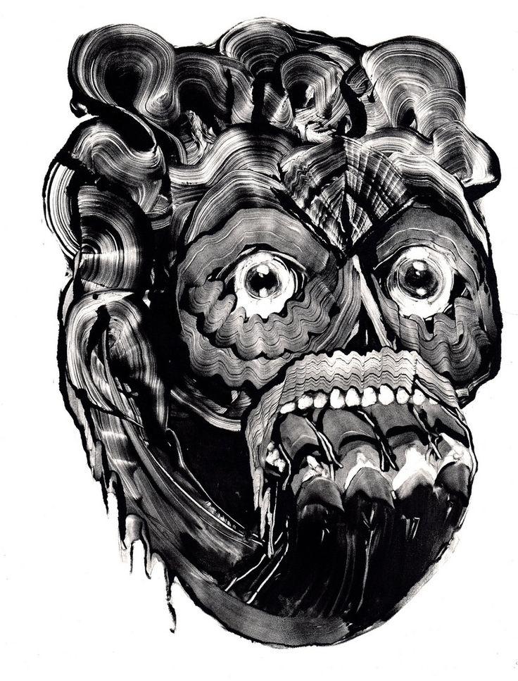 Multimedia Artist Grady Gordon Creates Dark and Surreal Monotypes | Hi-Fructose Magazine