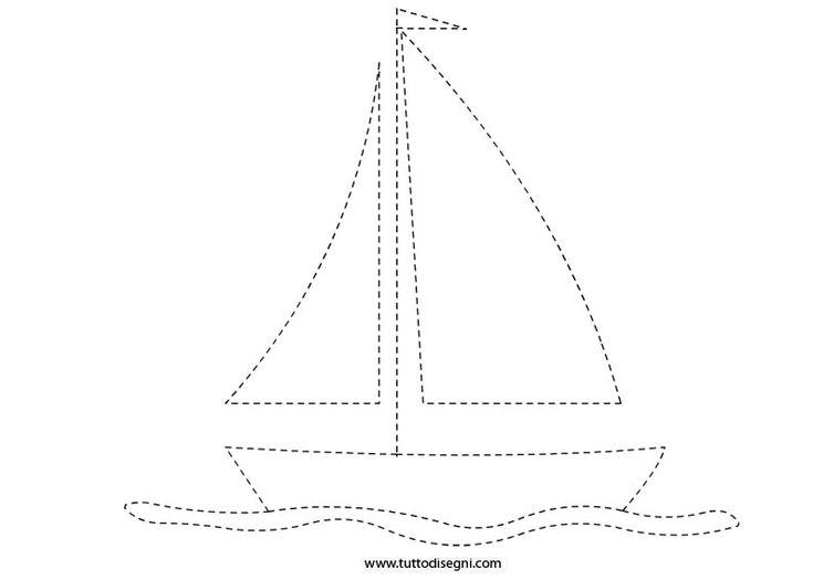 Scheda pregrafismo – Barca a vela