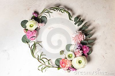 Floral Round Frame - Download From Over 60 Million High Quality Stock Photos, Images, Vectors. Sign up for FREE today. Image: 89920416