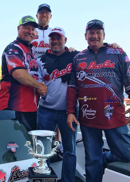 BREAZEALE EARNED A new Bass Cat Sabre FTD/Mercury Motors 150 as part of his grand prize package.