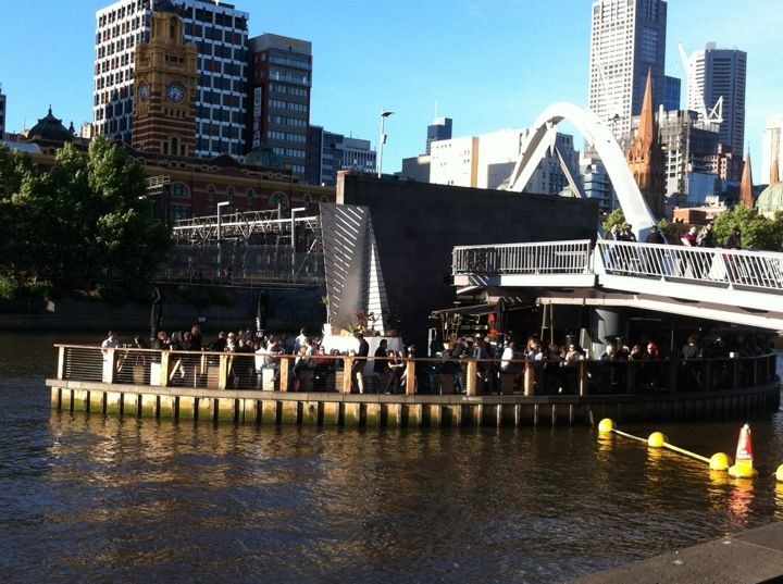 Ponyfish Island is great for a casual outdoor drink on the yarra