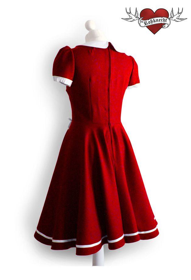 Petticoatkleider - Matrosenkleid mit Kragen - ein Designerstück von Rossknecht-Modedesign bei DaWanda
