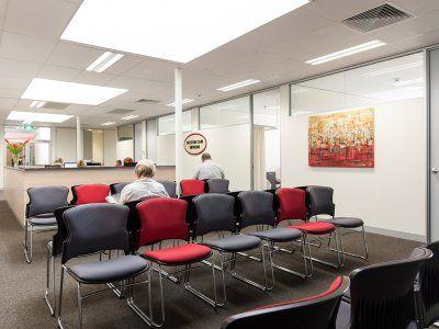 Melbourne Eastern Healthcare Village waiting area.