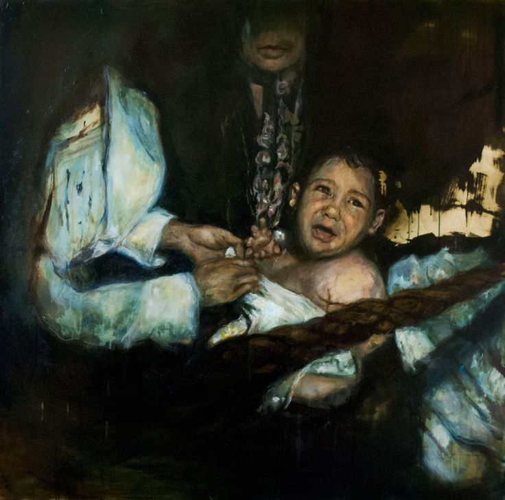 Baptism, Oil on Canvas by Nina Panagopoulou on ArtClick.ie