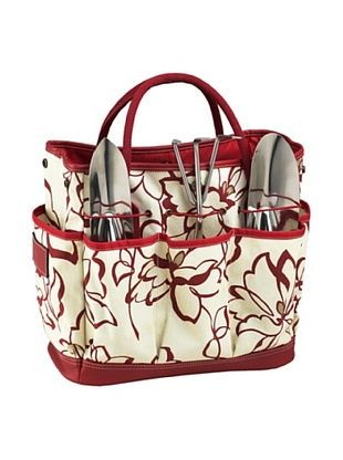 49% OFF Picnic at Ascot Floral Gardening Tote Set (Red)