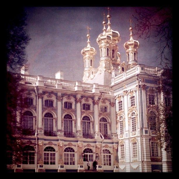 Il palazzo di Caterina a Pushkin (San Pietroburgo, Russia)
