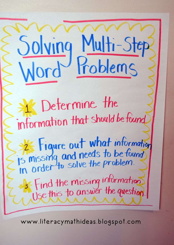 Literacy & Math Ideas: How to Solve Multi-Step Word Problems