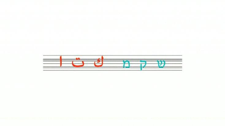 aravrit typeface's 638 hybrid letters unite hebrew and arabic - designboom | architecture