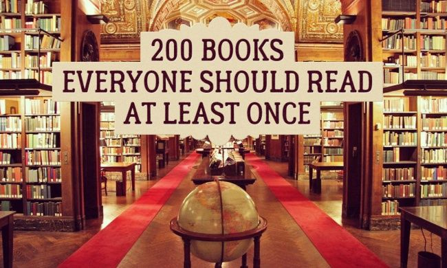 200 superb books everyone should read atleast once by Brightside