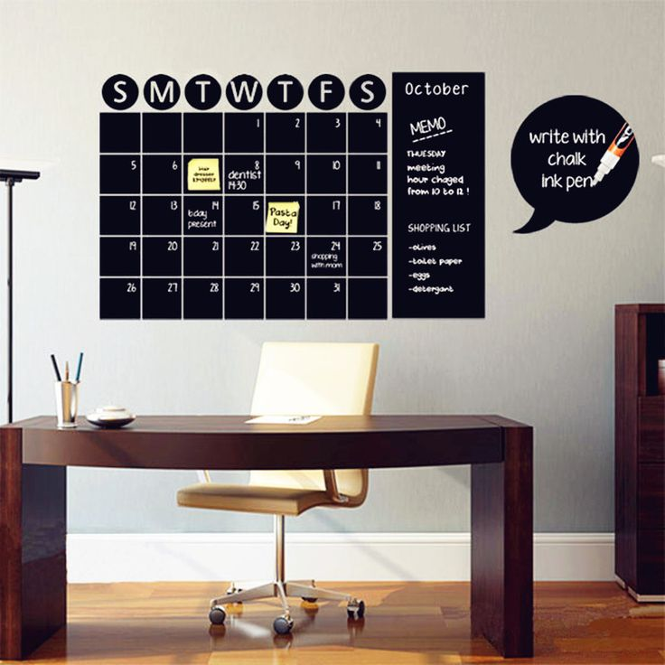 Self-Adhesive Chalkboard Calendar