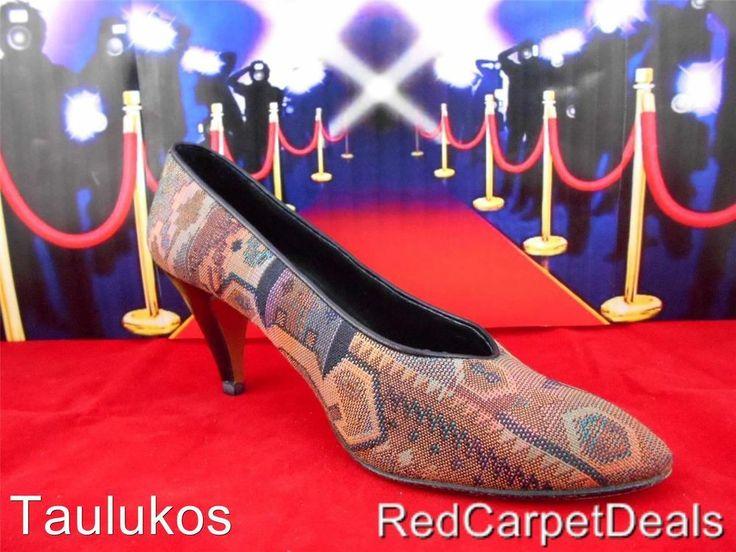 Womens shoes NINA High Heels Pumps SPAIN Southwest Western Aztec Indian sz 7.5 M