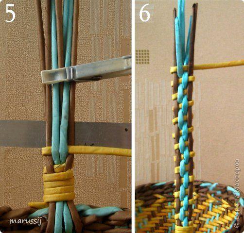 Productos de artesanía Master Class tejer 08 de marzo de la armadura de color y pequeña MC se encarga de tubos de papel fotográfico 10