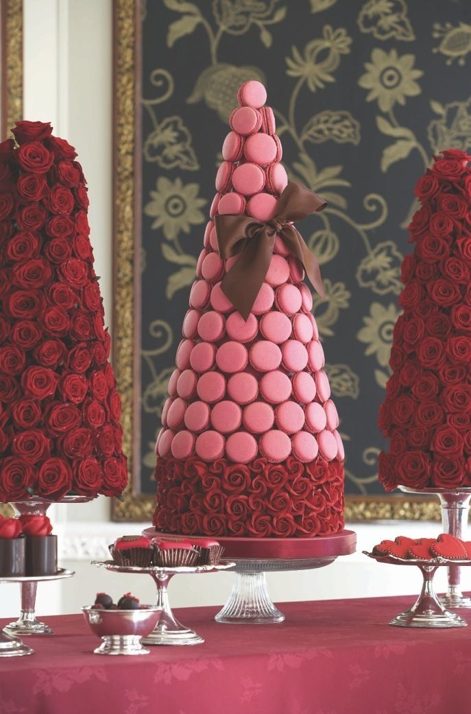 Passion Pink Macaroon Tower