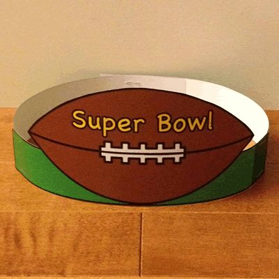 Super Bowl Hat - paper craft with free printable