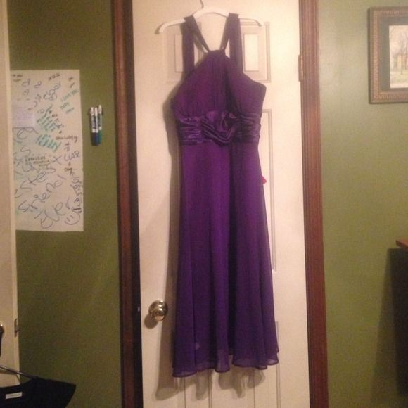 Purple cocktail dress Purple cocktail dress worn a few times, smoke free, sz 10 Dresses