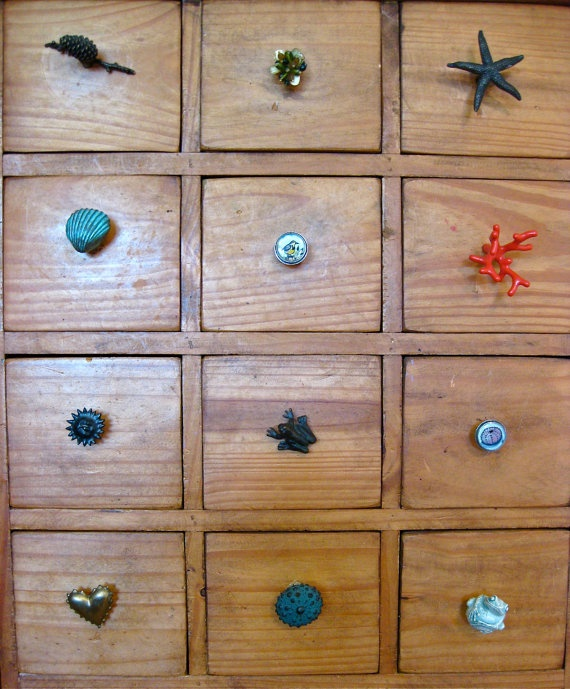 Unique Drawer Knob / Cabinet Hardware Hand Painted By HeatherKent