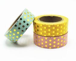 Masking tape folie goud | stipjes pastel