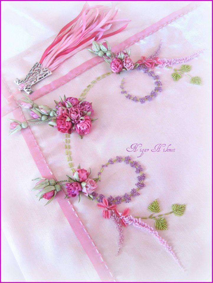 Ribbon embroidery Nigar Hikmet