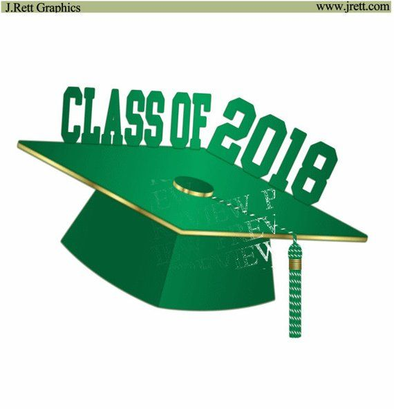 Graduation Clip Art More Colors Green Gold Graduation Clipart