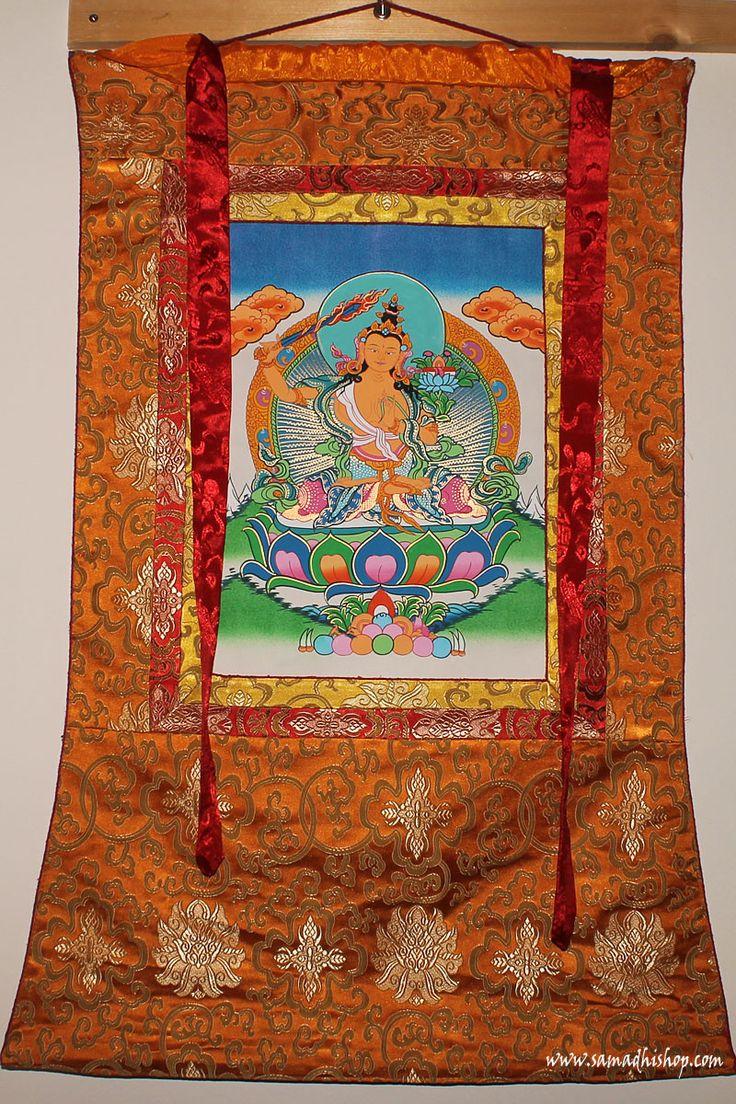 Original Nepalese Buddhist Manjushri thangka