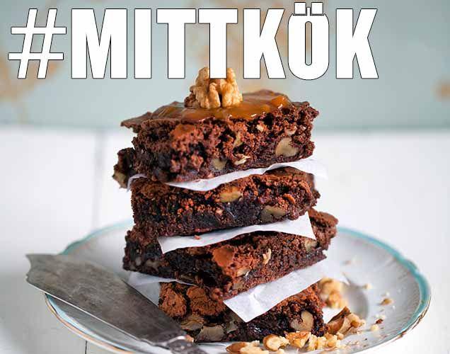 Vuxen kladdkaka med salta nötter & whisky - Recept - Mitt Kök