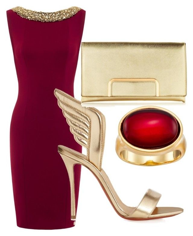 """Untitled #71"" by ruzy-grigoryan on Polyvore featuring Christian Louboutin and Karen Kane"