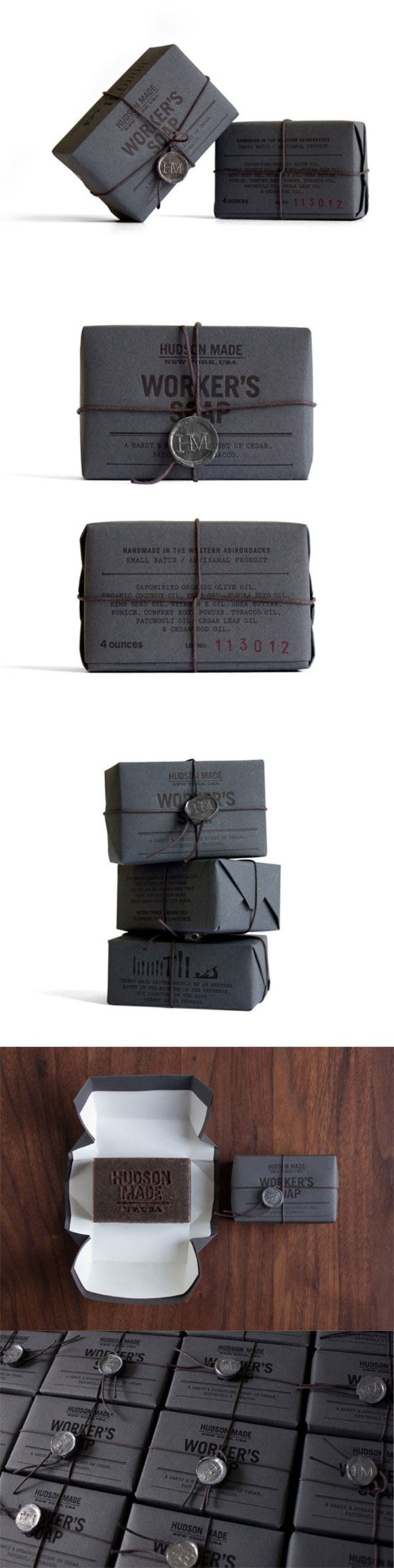 Hudson Made: #Worker's #Soap --Creative mug #packaging