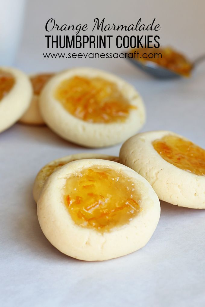 Recipe: Orange Marmalade Thumbprint Cookies