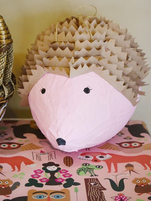Hedgehog Pinata : Woodland Forest Birthday Party