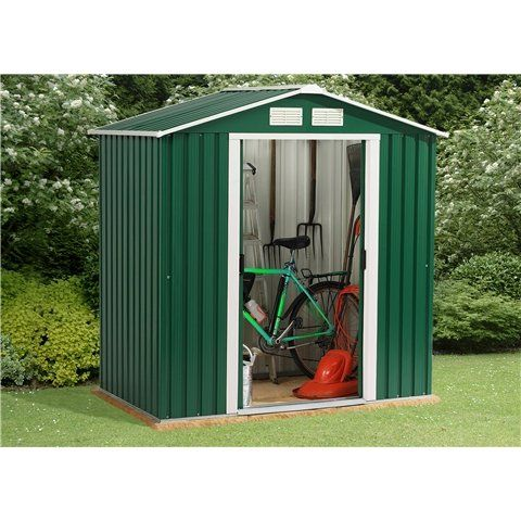 Oslo 6FT x 6FT VALUE METAL SHED (2.01m x 1.82m)