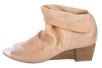 Marsèll Leather Peep-Toe Ankle Boots