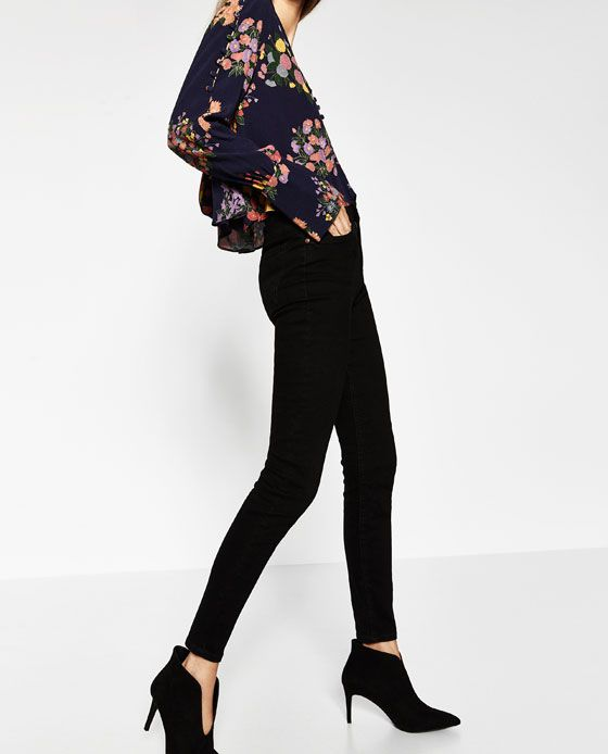 ZARA - WOMAN - HIGH-WAISTED JEANS ESSENTIAL FITS