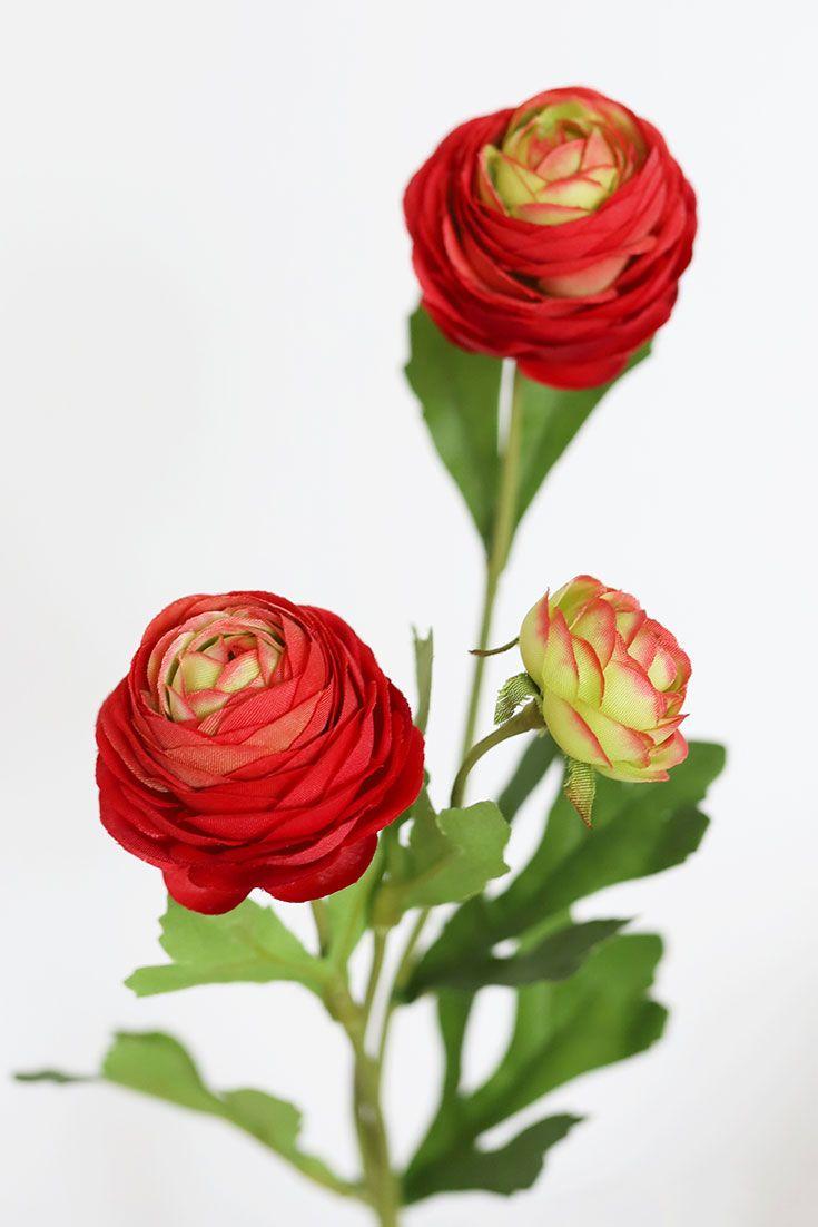 Fake Red Wedding Flowers In 2020 Red Wedding Flowers Ranunculus Flowers Flowers