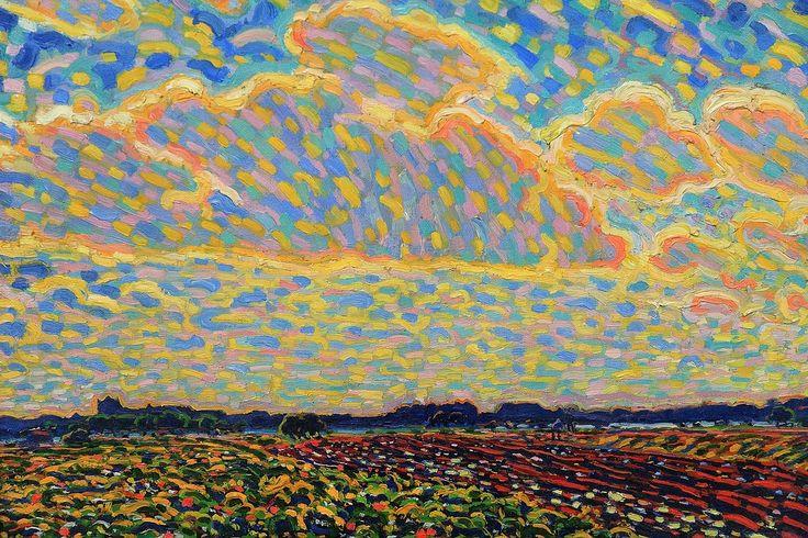 Leo Gestel (1881-1941): Evening Landscape near Montfoort (Avondlandschap bij Montfoort), 1909, oil on canvas, Kröller-Müller Museum, Otterlo...