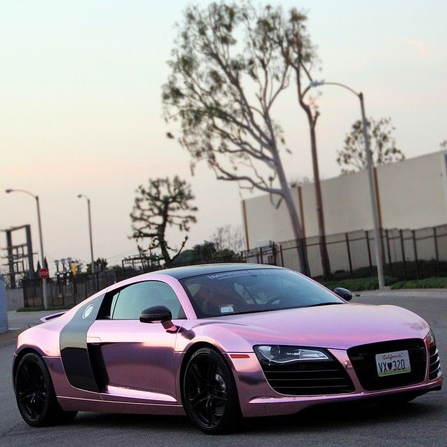 @Impressivewrap Audi R8 full wrapped in Rose gold chrome (Ice Pink Chrome). Hot or Not • Follow @impressivewrap