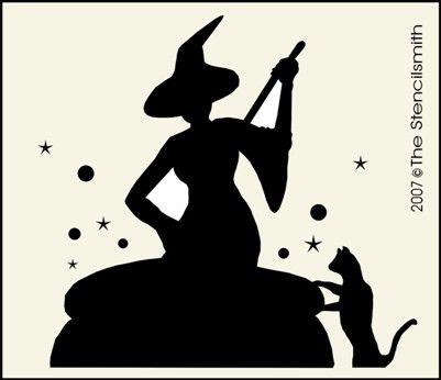 Witch Stencil Witch Crafts Pinterest Stencils